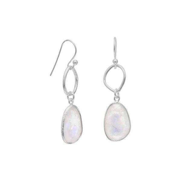Rainbow Moonstone Drop Earrings-Earrings-Here Comes The Bling™