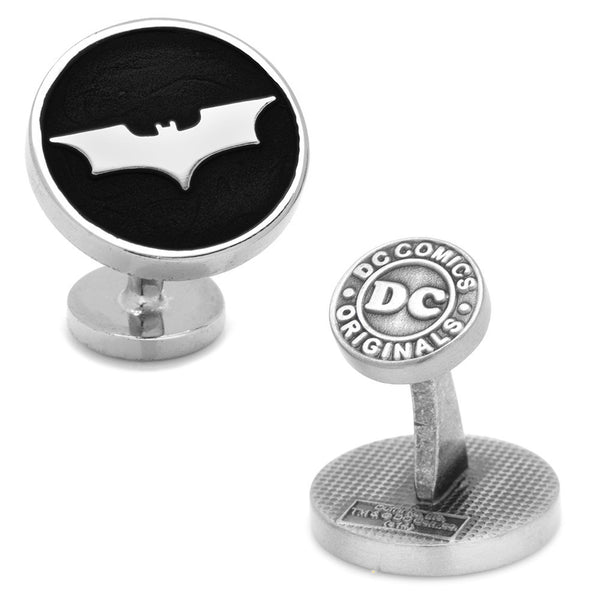 Recessed Black Batman Dark Knight Cufflinks-Cufflinks-Here Comes The Bling™