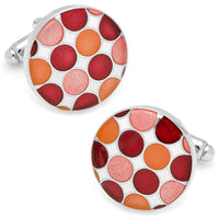 Red Polka Dot Cufflinks-Cufflinks-Here Comes The Bling™