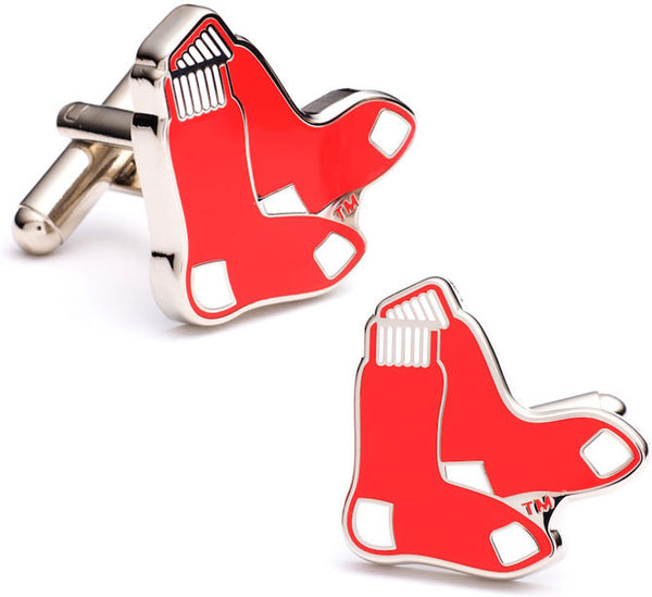 Red Sox Cufflinks-Cufflinks-Here Comes The Bling™