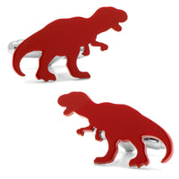 Red T-Rex Cufflinks-Cufflinks-Here Comes The Bling‰̣ۡå¢