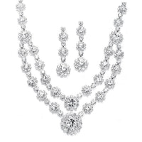 Regal Gold Two Row Rhinestone Neck Set-Sets-Here Comes The Bling™