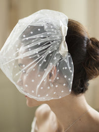 Retro 1950's Polka Dot Veil-Birdcage-Here Comes The Bling™