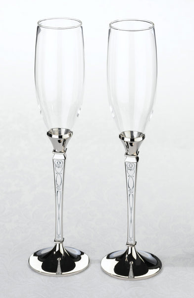 Retro Toasting Glasses-Toasting Flutes-Here Comes The Bling™