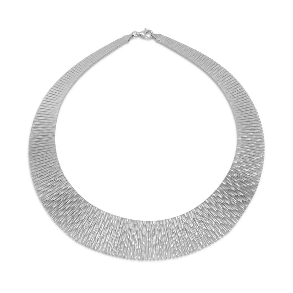 Rhodium Cleopatra Style Necklace-Necklaces-Here Comes The Bling™