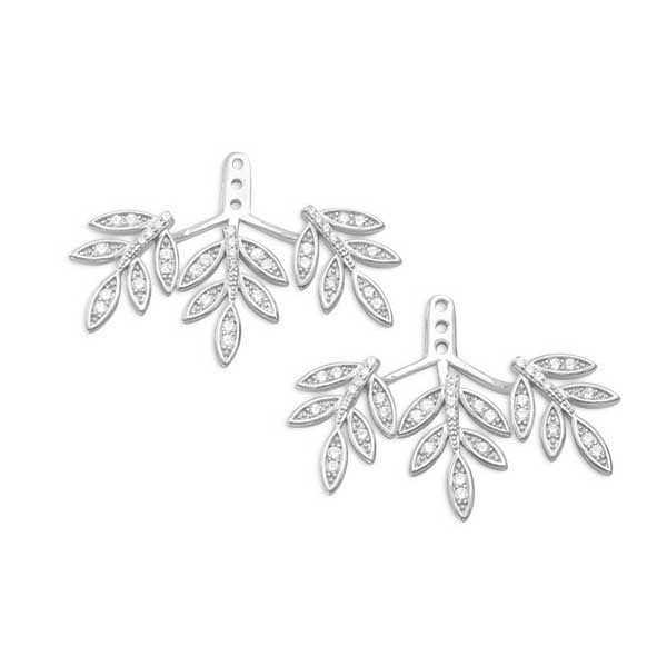 Rhodium CZ Branch Earring Backs-Earrings-Here Comes The Bling™