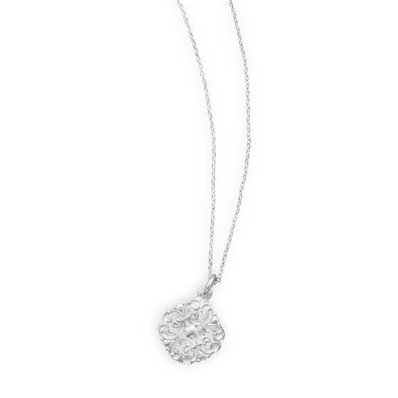 Rhodium Plated Vintage Necklace-Necklaces-Here Comes The Bling™