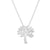 Rhodium Tree Necklace