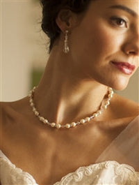 Romantic Backdrop Pearl and Crystal Necklace-Back Necklace-Here Comes The Bling™