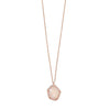 Rose Gold Necklace with Rose Quartz-Necklaces-Here Comes The Bling™