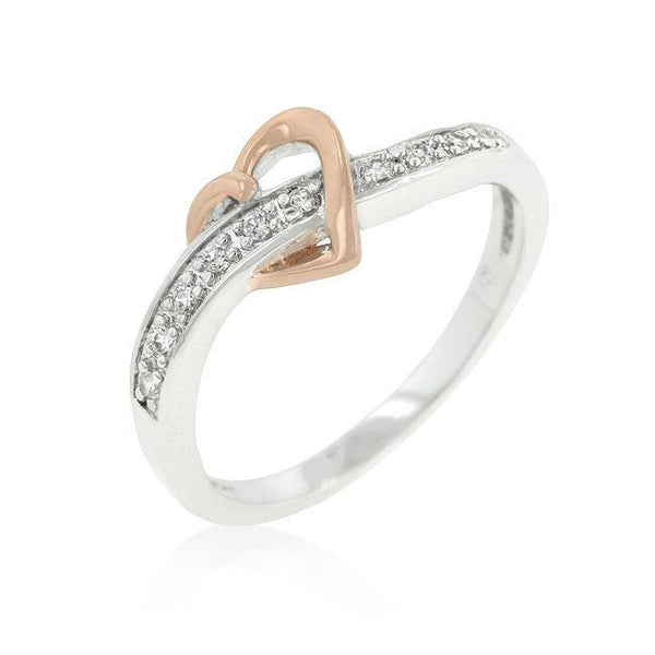 Rose Heart Band-Rings-Here Comes The Bling™