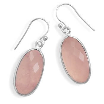 Rose Quartz French Wire Earrings-Earrings-Here Comes The Bling™
