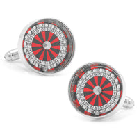 Roulette Wheel Cufflinks-Cufflinks-Here Comes The Bling‰̣ۡå¢