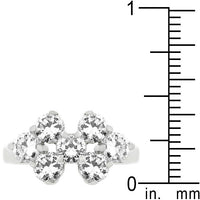 Round Cubic Zirconia Cluster Ring-Rings-Here Comes The Bling™