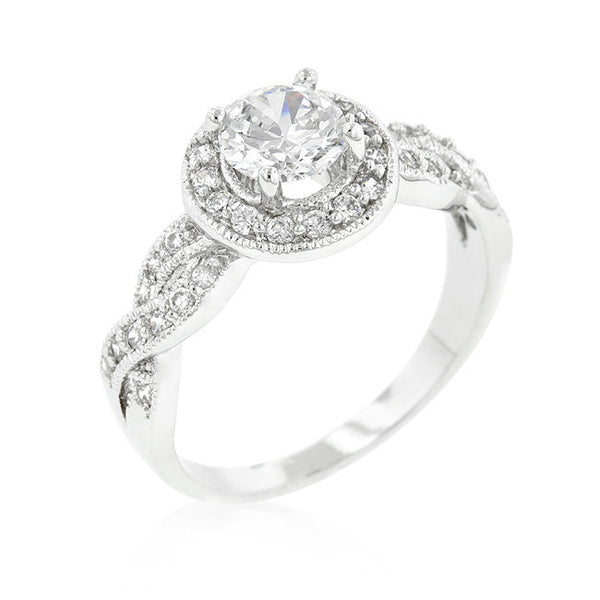 Round Cut Halo Engagement Ring-Rings-Here Comes The Bling™