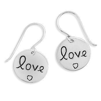"Round ""Love"" Earrings-Earrings-Here Comes The Bling™"