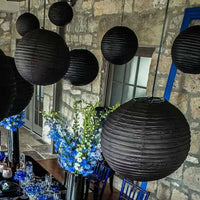 Round Paper Lanterns - Medium (available in 18 colors)-Decor-Hanging-Here Comes The Bling™