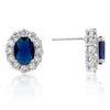 Royal Wedding Sapphire Earrings-Earrings-Here Comes The Bling