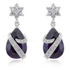 Royal Wrapped Amethyst Earrings-Earrings-Here Comes The Bling