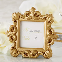 """Royale"" Gold Baroque Place Card/Photo Holder (Set of 6)-Place Card Holder-Here Comes The Bling™"