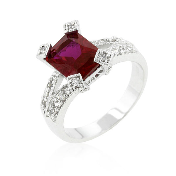 Ruby Cubic Zirconia Fashion Ring-Rings-Here Comes The Bling™