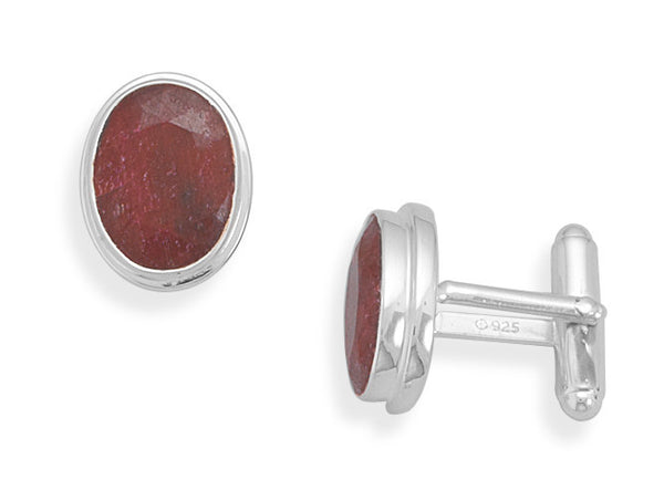 Ruby Cuff Links-Cufflinks-Here Comes The Bling™