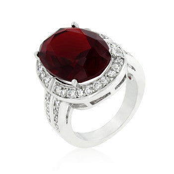 Ruby Red Cocktail Ring-Rings-Here Comes The Bling