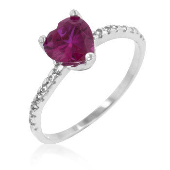 Ruby Red Heart Ring-Rings-Here Comes The Bling