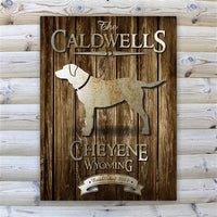 Rustic Wood Cabin Canvas Sign-Sign-Here Comes The Bling™