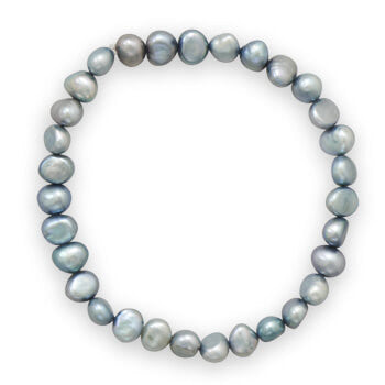 Sage Cultured Freshwater Pearl Stretch Bracelet-Bracelets-Here Comes The Bling™
