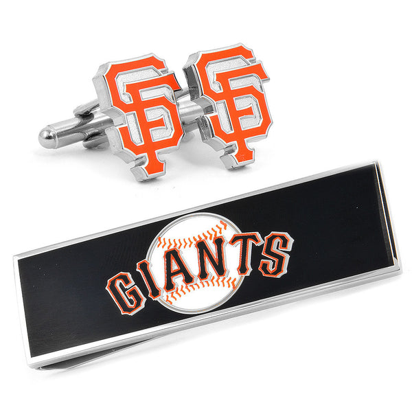 San Francisco Giants Cufflinks and Money Clip Gift Set-Mens 3 Piece Gift Set-Here Comes The Bling™