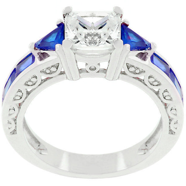 Sapphire Blue Regal Ring-Rings-Here Comes The Bling™