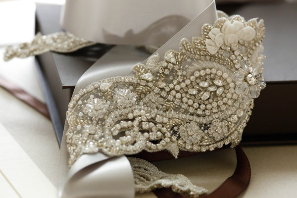 Satarah Bridal Sash by Millieicaro-Sash-Here Comes The Bling™