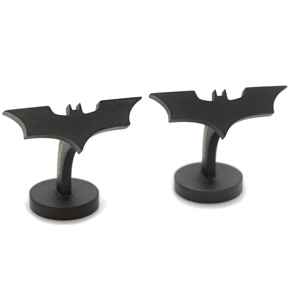 Satin Black Dark Knight Cufflinks-Cufflinks-Here Comes The Bling™