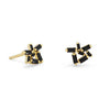 Scattered Black CZ 14k Gold Stud Earrings-Earrings-Here Comes The Bling™