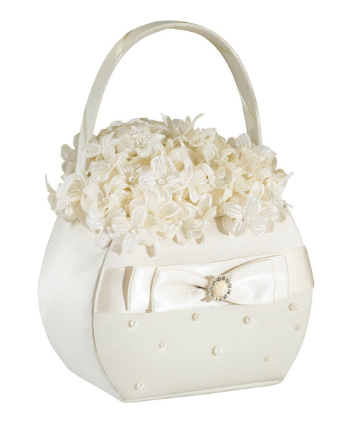 Scattered Pearl Basket-Ivory-Flower Basket-Here Comes The Bling™
