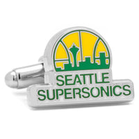 Seattle Supersonics Cufflinks-Cufflinks-Here Comes The Bling™
