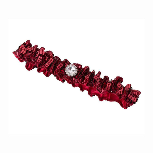 Sequin Garter - Red-Garters-Here Comes The Bling™