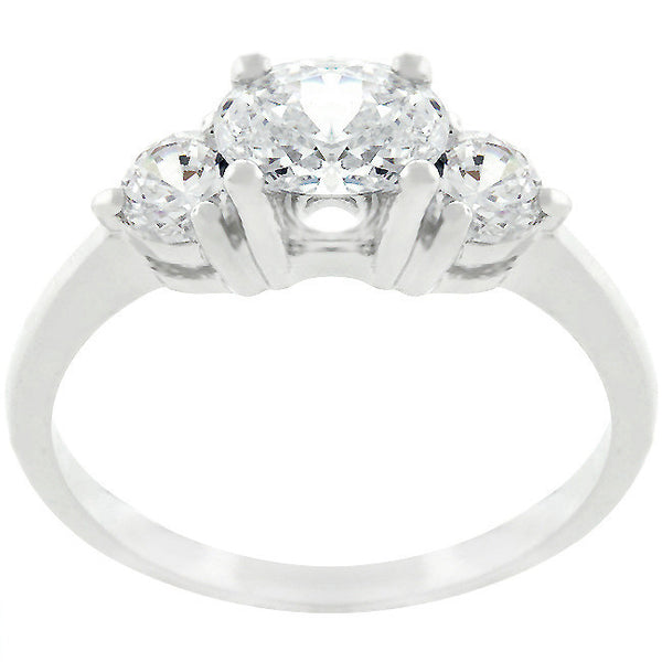 Serenade Oval Clear Cubic Zirconia Ring-Rings-Here Comes The Bling™
