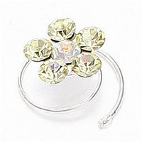 Set of 12 Crystal Flower Hair Spirals (Available in 20 Color Choices)-Hair Pins-Here Comes The Bling™