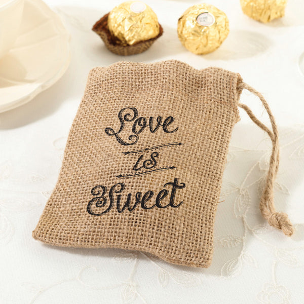 Set of 4 Burlap Favor Bags-Favors-Bags-Here Comes The Bling™