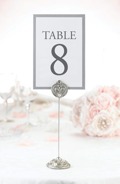 Set of 4 Jeweled Table Markers-Table Numbers-Here Comes The Bling™