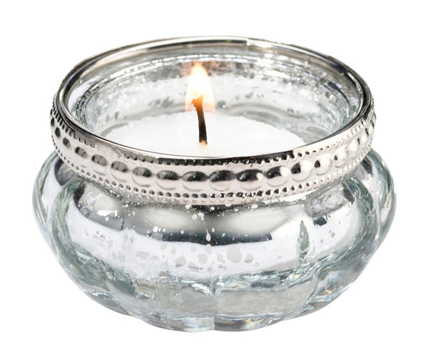 Set of 4 Silver Tealight Cups-Favors-Candle Holders-Here Comes The Bling™