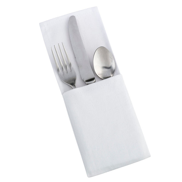 Set of 4 White Silverware Holders- Blank-Decor-Table-Here Comes The Bling™