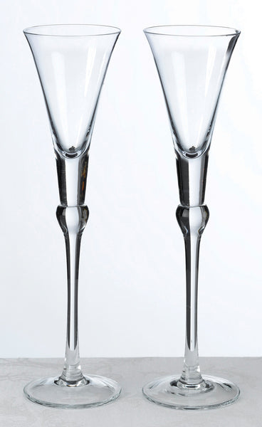 Set Of Tall Flutes -Clear-Toasting Flutes-Here Comes The Bling™