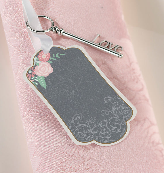 Set/24 Black/Pink Tags-Favors-Tags-Here Comes The Bling™