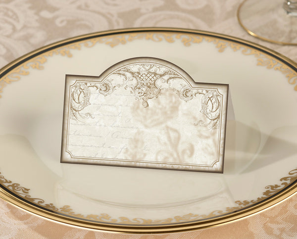 Set/24 Gold Place cards-Place Cards-Here Comes The Bling™