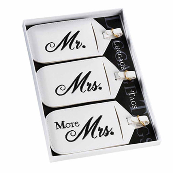 Set/3 Mr. & Mrs. Luggage Tags-Luggage Tags-Here Comes The Bling™