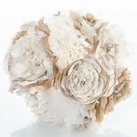 Shabby Chic Bouquet-Wedding Bouquet-Here Comes The Bling™