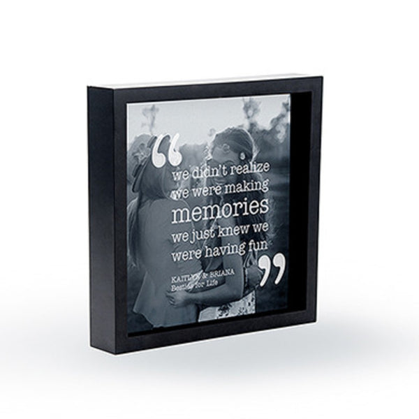 "Shadow Box Photo Frame - ""Memories"" Etching-Frames-Here Comes The Bling™"